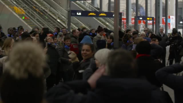 A 100strong choir performed Imagine by John Lennon and Yoko Ono at London Bridge station for the launch of the new London Bridge Culture strategy The...