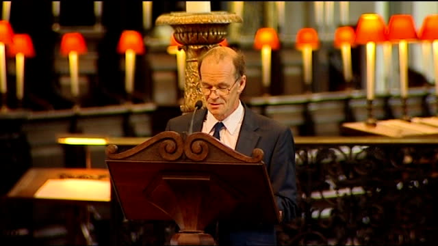 100th anniversary of captain scott expedition to south pole st paul's memorial service int richard falcon scott reading at service - 100th anniversary stock videos & royalty-free footage