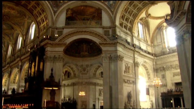 100th anniversary of captain scott expedition to south pole st paul's memorial service england london st paul's cathedral int general view captain... - 100th anniversary stock videos & royalty-free footage