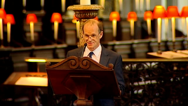 100th anniversary of captain scott expedition to south pole st paul's memorial service int falcon scott giving reading at memorial service sot - 100th anniversary stock videos & royalty-free footage
