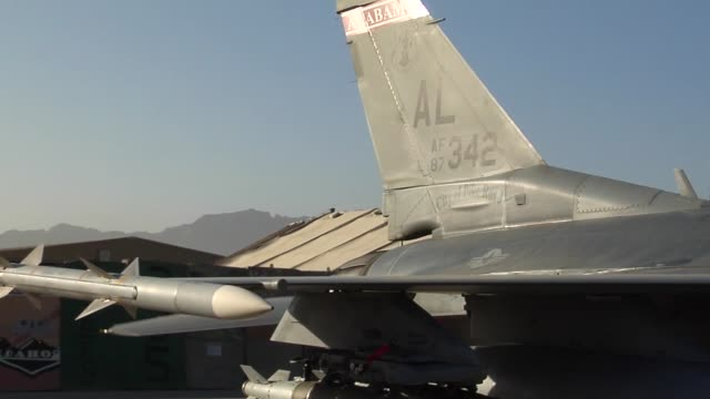 100th efs f-16 fighting falcon, step, prep, take-off. 100 efs is deployed from montgomery, alabama and part of the 187th fighter wing. - bagram air base stock videos & royalty-free footage