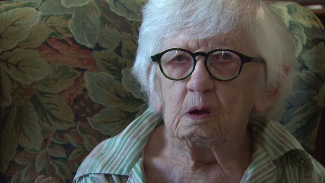 107YearOld author Merle Phillips talks about her inspiration for writing at Belmont Village Senior Living on Aug 28 2014 in Carol Stream Ill