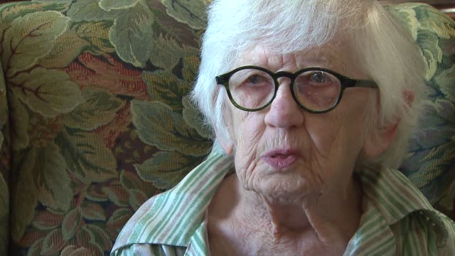 107yearold author Merle Phillips talks about her most recent book Beautiful Pebbles at Belmont Village Senior Living on Aug 28 2014 in Carol Stream...