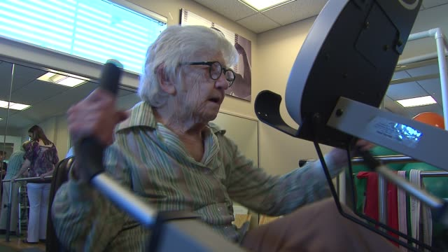 107yearold author Merle Phillips works out at Belmont Village Senior Living on Aug 28 2014 in Carol Stream Ill