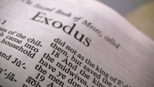 hd 1080i bible exodus - bible stock videos and b-roll footage
