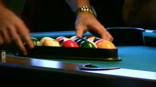 hd 1080i billiards 1 - pool table stock videos & royalty-free footage