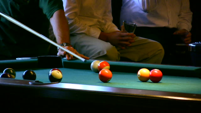 hd 1080i billiards table 2 - pool table stock videos & royalty-free footage