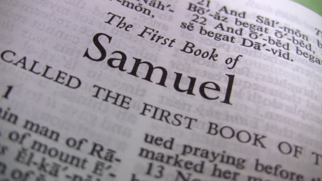 hd 1080i book of samuel - holy book stock videos and b-roll footage