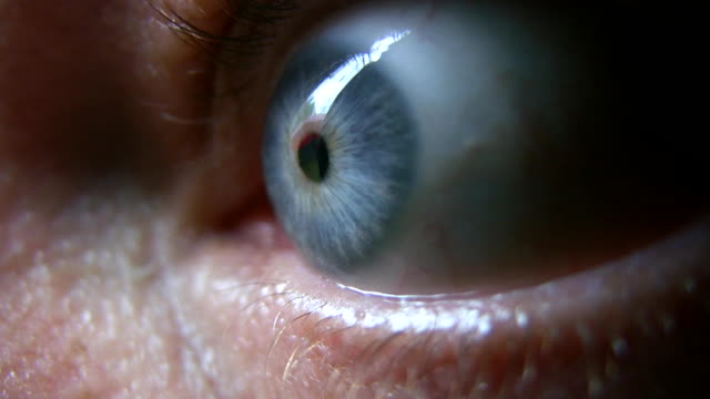 hd 1080i closeup of eyeball 1 - eyeball stock videos and b-roll footage