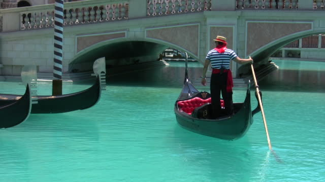 hd 1080i italian gondola in las vegas 1 - venice italy stock videos & royalty-free footage