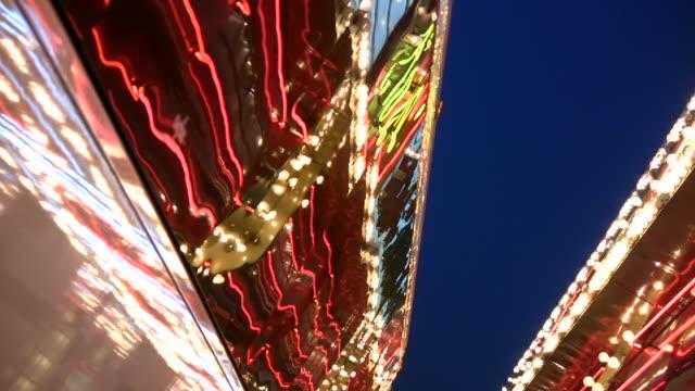 hd 1080i las vegas neon lights flickering 17 - tube stock videos and b-roll footage