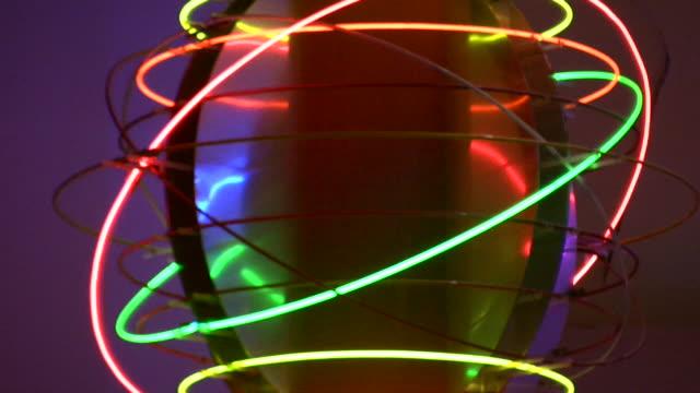 hd 1080 i las vegas neon lichter, flackernde 42 - förderleitung stock-videos und b-roll-filmmaterial