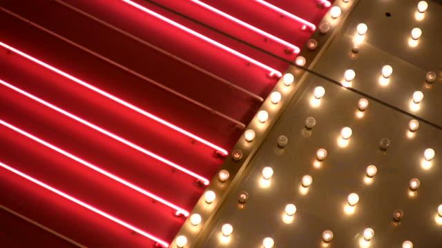 HD 1080i Las Vegas Neon Lights flickering 6