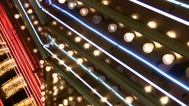 HD 1080i Las Vegas Neon Lights flickering 8