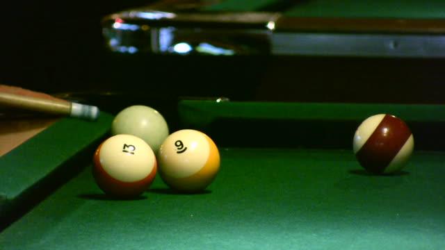 hd 1080i pool hall billiards - pool hall stock videos and b-roll footage