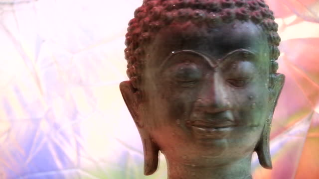 hd 1080i rotating buddha head 6 - philosophy stock videos & royalty-free footage