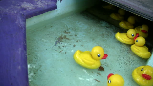hd 1080i rubber duckies 1 - game of chance stock videos & royalty-free footage