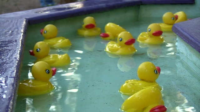 hd 1080i rubber duckies 2 - game of chance stock videos & royalty-free footage