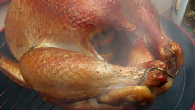 hd 1080i smoked turkey 1 - smoked food stock videos and b-roll footage