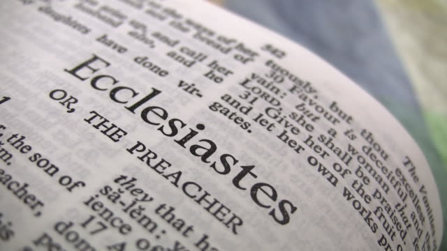 hd 1080i the book of ecclesiastes - holy book stock videos and b-roll footage