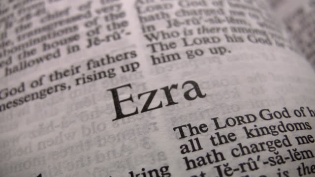 hd 1080i the book of ezra - holy book stock videos and b-roll footage
