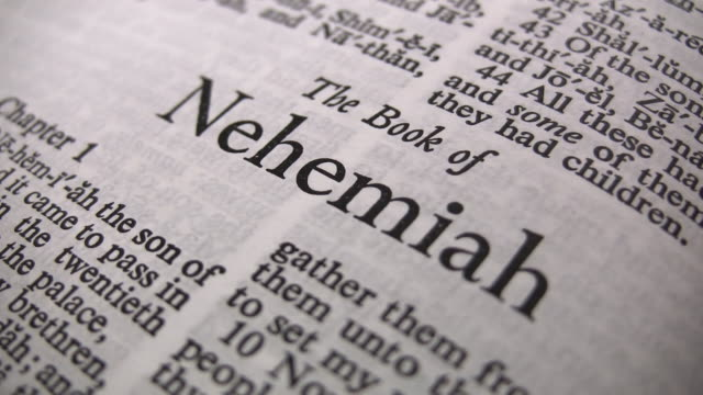 hd 1080i the book of nehemiah 2 - holy book stock videos and b-roll footage