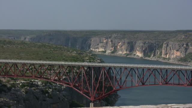 HD 1080i Truck going over Texas bridge