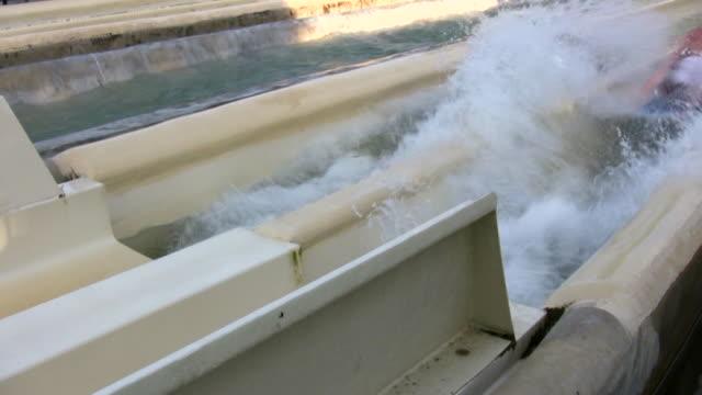 hd 1080i water slide 3 - water slide stock videos & royalty-free footage
