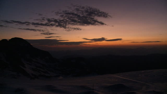 1080p: glacier at dawn panorama - dachstein mountains stock videos and b-roll footage