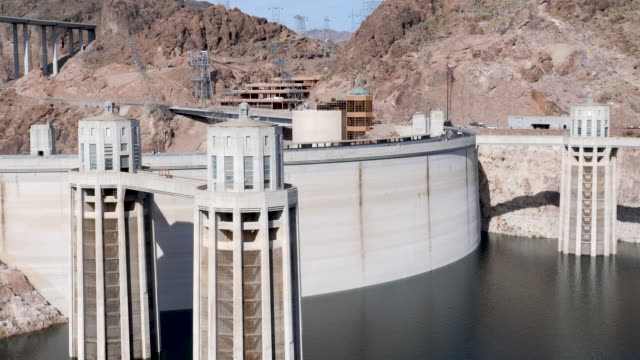 4k 10bit time lapse hoover dam hydroelectric power, nevada,usa - glen canyon staudamm stock-videos und b-roll-filmmaterial