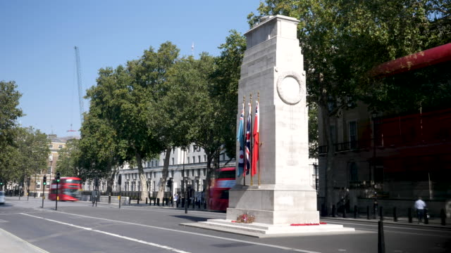 4k 10bit time lapse of ms inscription on the cenotaph in london, whitehall, uk - whitehall london stock videos & royalty-free footage