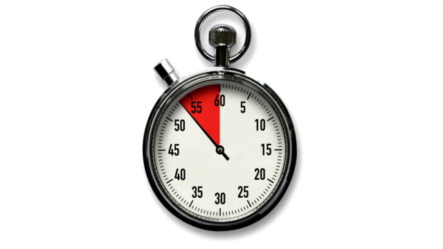 10-second stopwatch countdown on white - stop watch stock videos & royalty-free footage