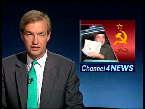 10th anniversary lib excerpt channel 4 news broadcast on collapse of communism excerpt itv news broadcast on collapse of communism - channel 4 news stock videos and b-roll footage