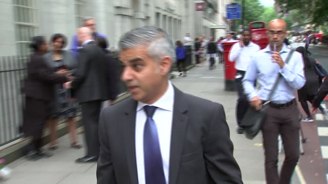 Tavistock Square memorial service Sadiq Khan MP along with others from Russell Square tube station/ Sadiq Khan lays wreath in Tavistock Square/...