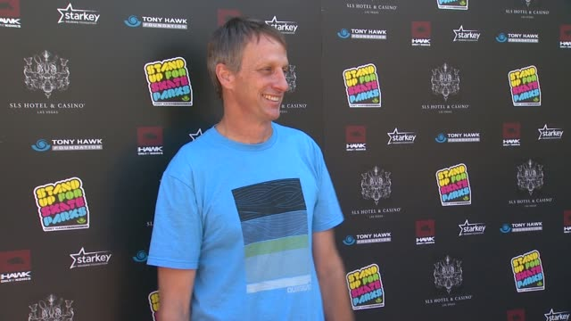clean 10th annual tony hawk's stand up for skateparks benefit los angeles ca united states 10/5/13 - tony hawk skateboarder stock videos and b-roll footage