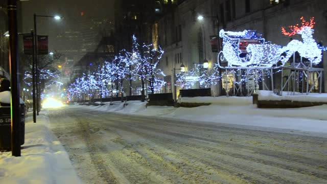 christmas lights in yonge street during winter on december 13, 2013; in toronto, ontario, canada. the downtown district is a famous place and a major... - lighting equipment stock videos & royalty-free footage