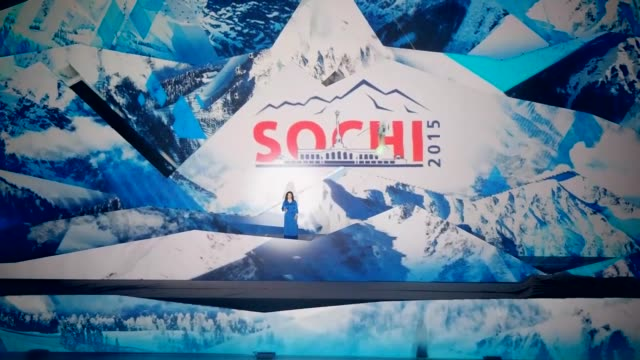 13th sportaccord convention started in sochi and official opening ceremony is held in iceberg palace in russia on 20 april 2015 - opening ceremony stock videos & royalty-free footage