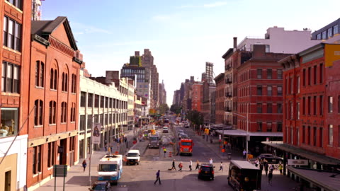 14st from high lines - greenwich village stock videos & royalty-free footage