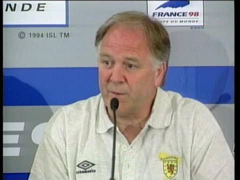 15Jun1998 MONTAGE Scottish fans react to result of Scotland v Brazil match Craig Brown reaction / Paris France / AUDIO