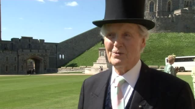 15th april 2014 - archive footage of nicholas parsons collecting his cbe at windsor castle. just a minute host nicholas parsons has died aged 96... - nicholas parsons stock videos & royalty-free footage