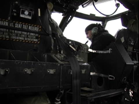 15th jan 2004 montage prior military civilian contractors troubleshooting uh60 blackhawk / lsa anaconda, iraq / audio - 2004 stock videos & royalty-free footage