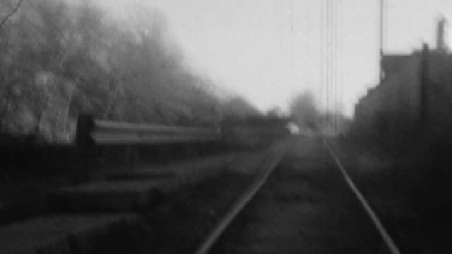 16mm experimental college - horror movie chase scene - railway track stock videos & royalty-free footage