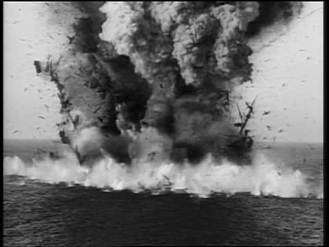 b/w 1700s wide shot burning ship exploding on ocean / divine lady (1929) - 18th century style stock videos and b-roll footage