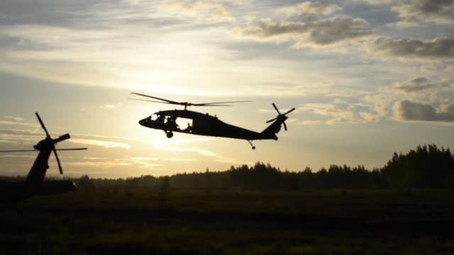 173rd airborne brigade jumping from 12 combat aviation brigade uh60 blackhawk helicopters as a part of continuing multinational training exercises at... - fallschirmjäger stock-videos und b-roll-filmmaterial