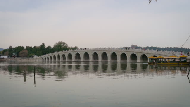 17-Arch Bridge on Kunming Lake at Summer Palace, Beijing, China