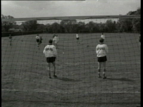 may-1962 b/w montage england leave for chile world cup, boarding plane; interview walter winterbottom, england manager interview; players training... - 1962 stock videos & royalty-free footage