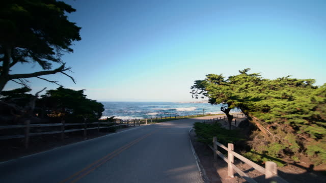 17-mile drive - pebble beach, ca - carmel california stock videos & royalty-free footage