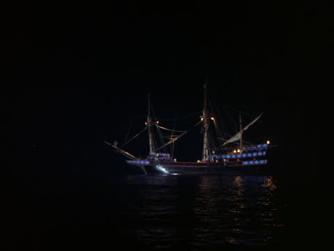 a 17th century galleon anchors at sea. - 17th century stock videos & royalty-free footage
