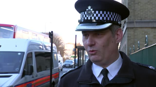17yearold boy stabbed to death in islington england london ext chief supt nick davies interview sot - messerstecherei stock-videos und b-roll-filmmaterial