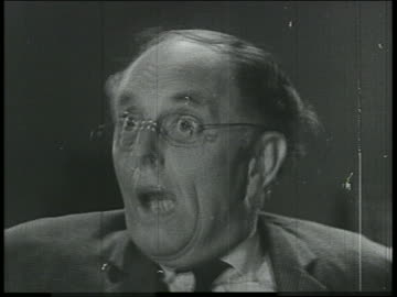 b/w 1800s/1900s montage of close up of frightened men + women - fear stock videos & royalty-free footage
